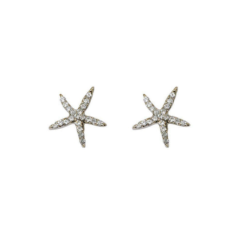 STARFISH CLEAR SWAROVSKI CRYSTAL STUDS