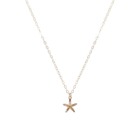 STARFISH GOLD FILLED PENDANT-Necklaces-MEZI