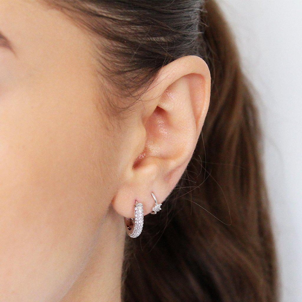 STAR CRYSTAL HELIX EARRING