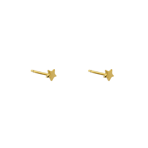 STAR PLAIN MINI GOLD STUDS