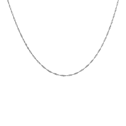 PLAIN STERLING SILVER CHAIN 40 CM
