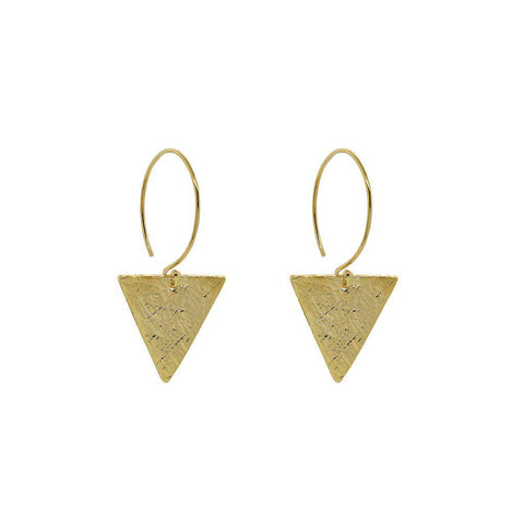 STROM GOLD TRIANGLE HOOP EARRINGS