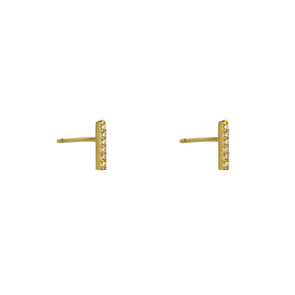 TILLY GOLD CRYSTAL BAR STUDS