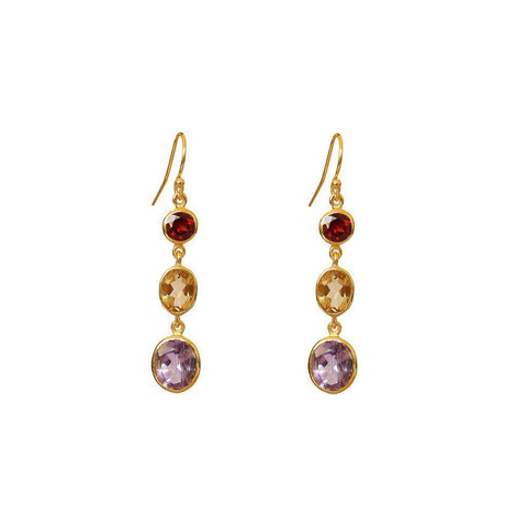 SYDNIE DROP EARRING 2 MICRON GOLD