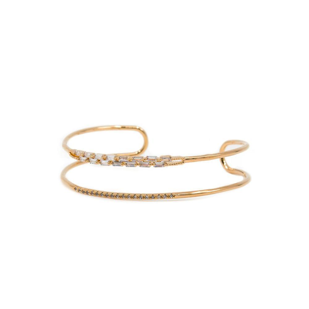 TAI ROSE GOLD CRYSTAL CUFF BRACELET