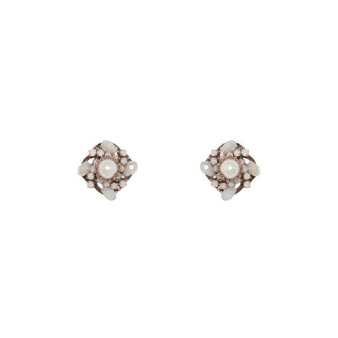 TALE CRYSTAL PEARL STUDS-Earrings-MEZI