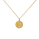 taurus star sign gold necklace