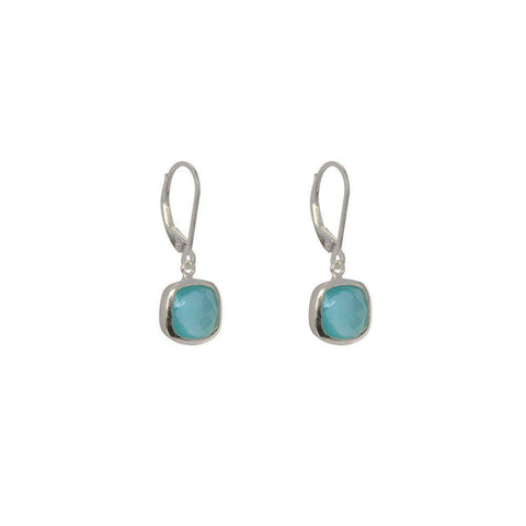 TENLEY CHALCEDONY SEMI-PRECIOUS STERLING SILVER EARRINGS