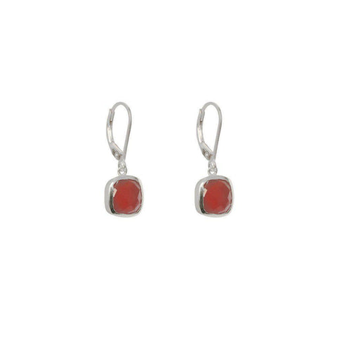 TENLEY GARNET SEMI-PRECIOUS STERLING SILVER EARRINGS