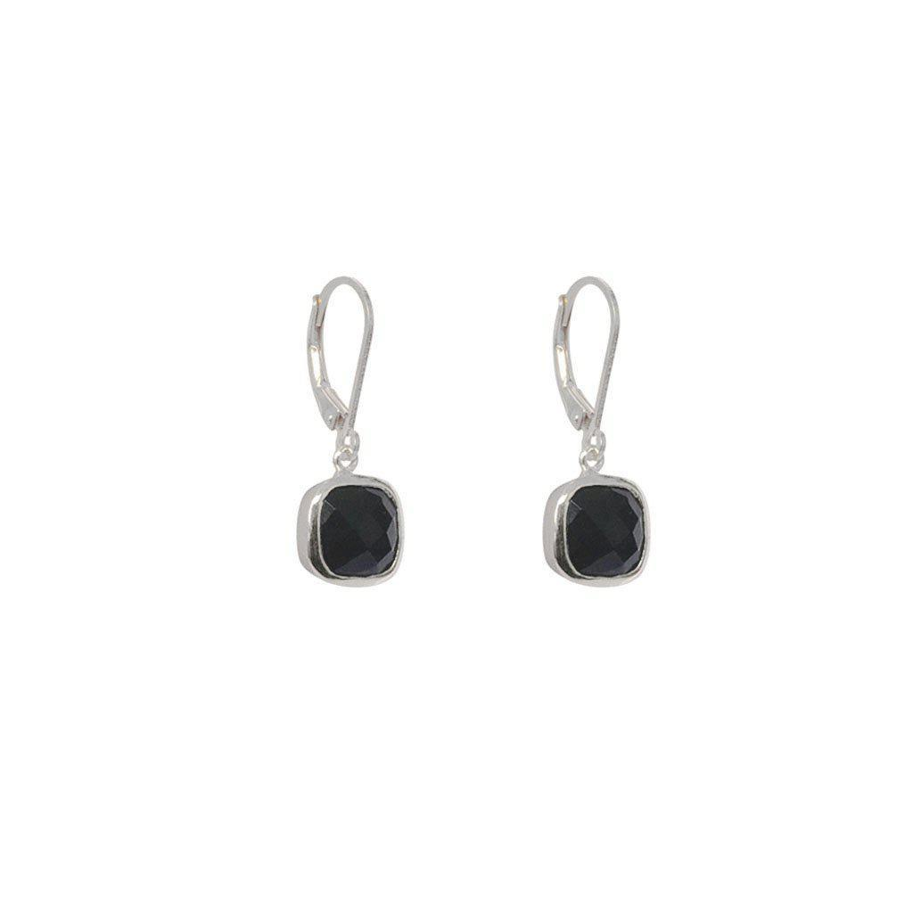 TENLEY ONYX SEMI-PRECIOUS STERLING SILVER EARRINGS