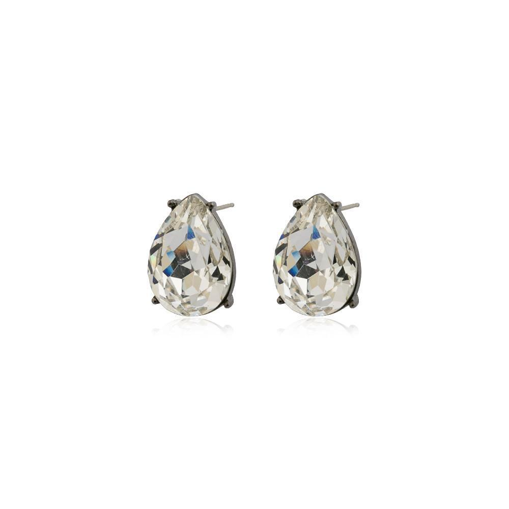 TERI CLEAR TEARDROP STUD CRYSTAL EARRING