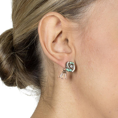 TORA SEMI-PRECIOUS CRYSTAL EARRINGS-Earrings-MEZI
