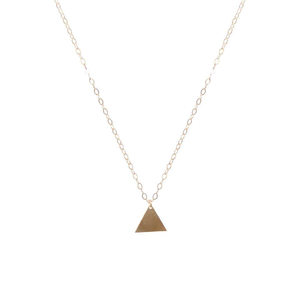 TRIANGLE GOLD FILLED PENDANT-Necklaces-MEZI
