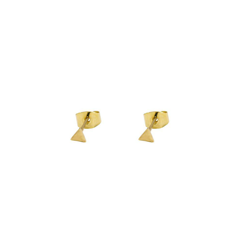 TRIANGLE STUDS GOLD FILLED