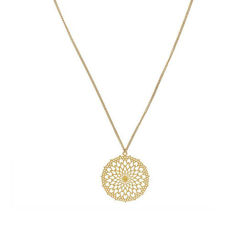 TRINA FILIGREE GOLD FILLED PENDANT NECKLACE