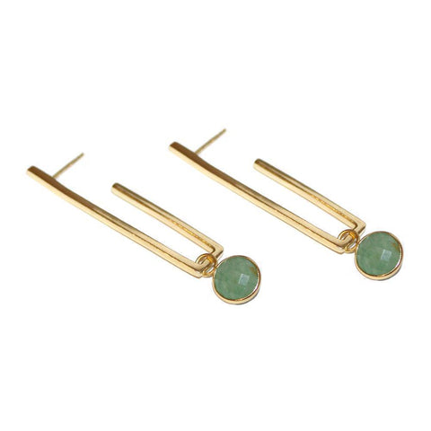 TYNE JADE GOLD DROP EARRINGS