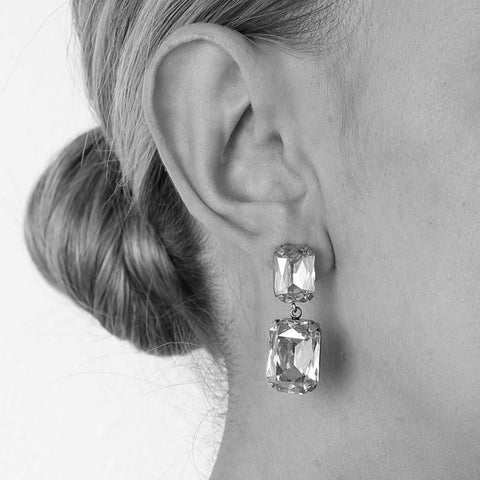 VALE LARGE CLEAR DROP CRYSTAL EARRING-Earrings-MEZI