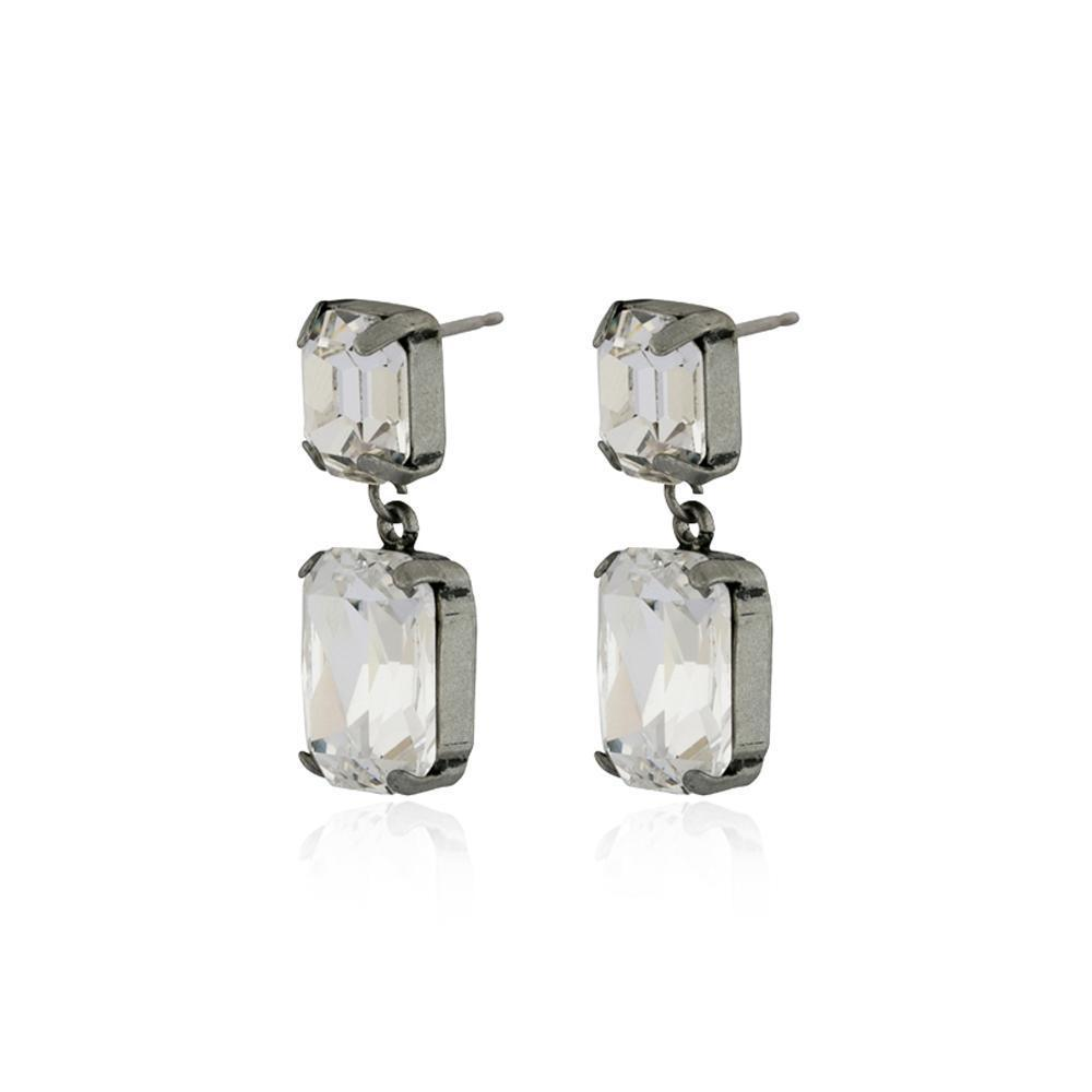VALE LARGE CLEAR DROP CRYSTAL EARRING