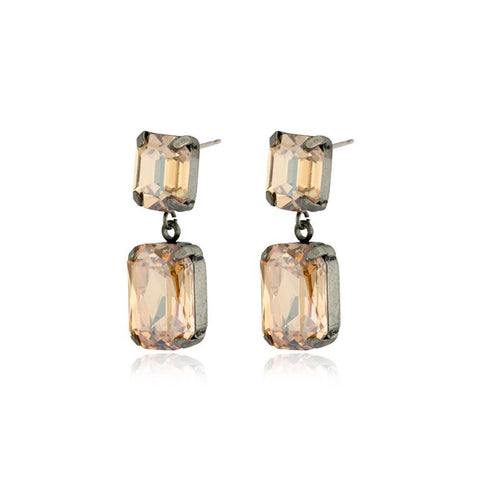 VALE LARGE GOLD DROP CRYSTAL EARRING-Earrings-MEZI