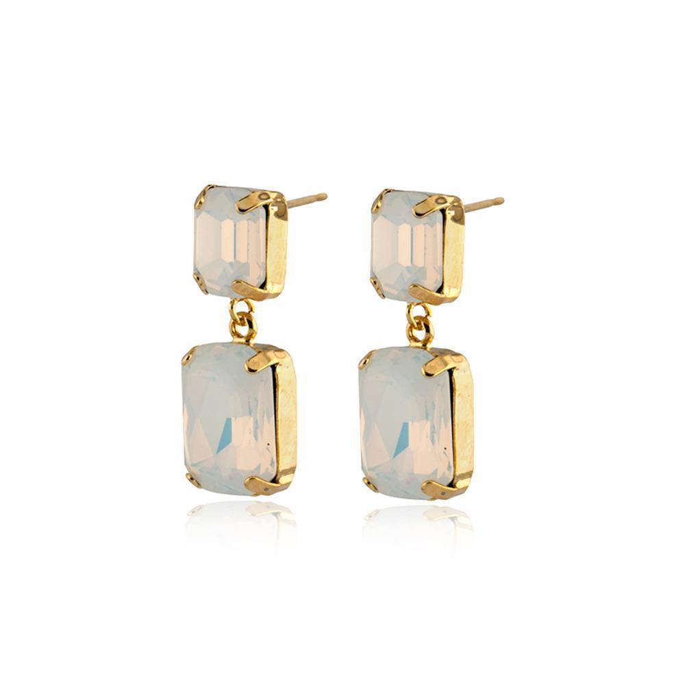 VALE LARGE WHITE DROP CRYSTAL EARRING