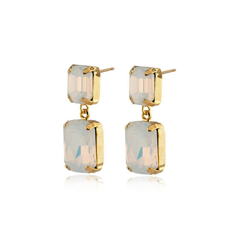 VALE LARGE WHITE DROP CRYSTAL EARRING-Earrings-MEZI