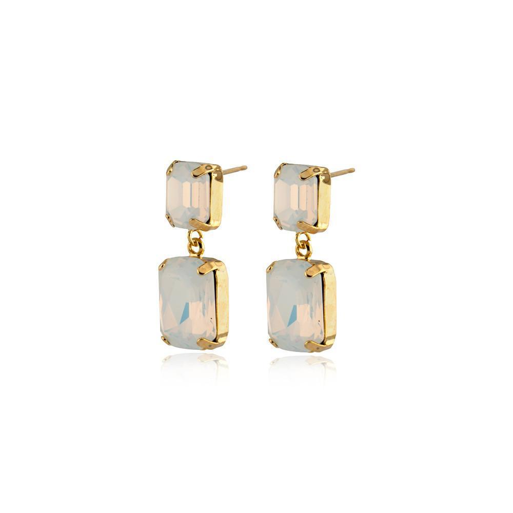 VALE SMALL WHITE DROP CRYSTAL EARRING