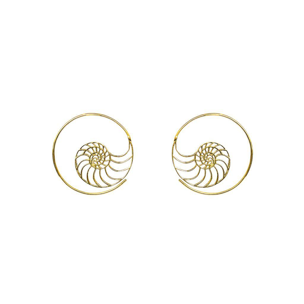 VAL TREE OF LIFE GOLD HOOP EARRING