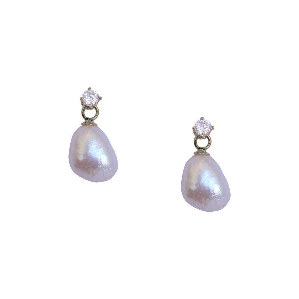 VANNA FRESH WATER PEARL SILVER DROP EARRINGS