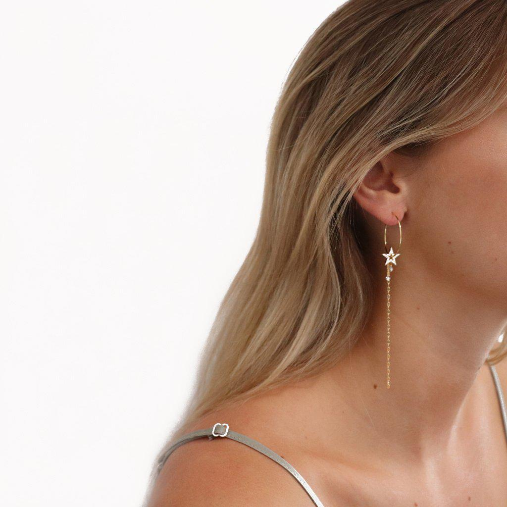 VARA CRYSTAL HOOP EARRINGS