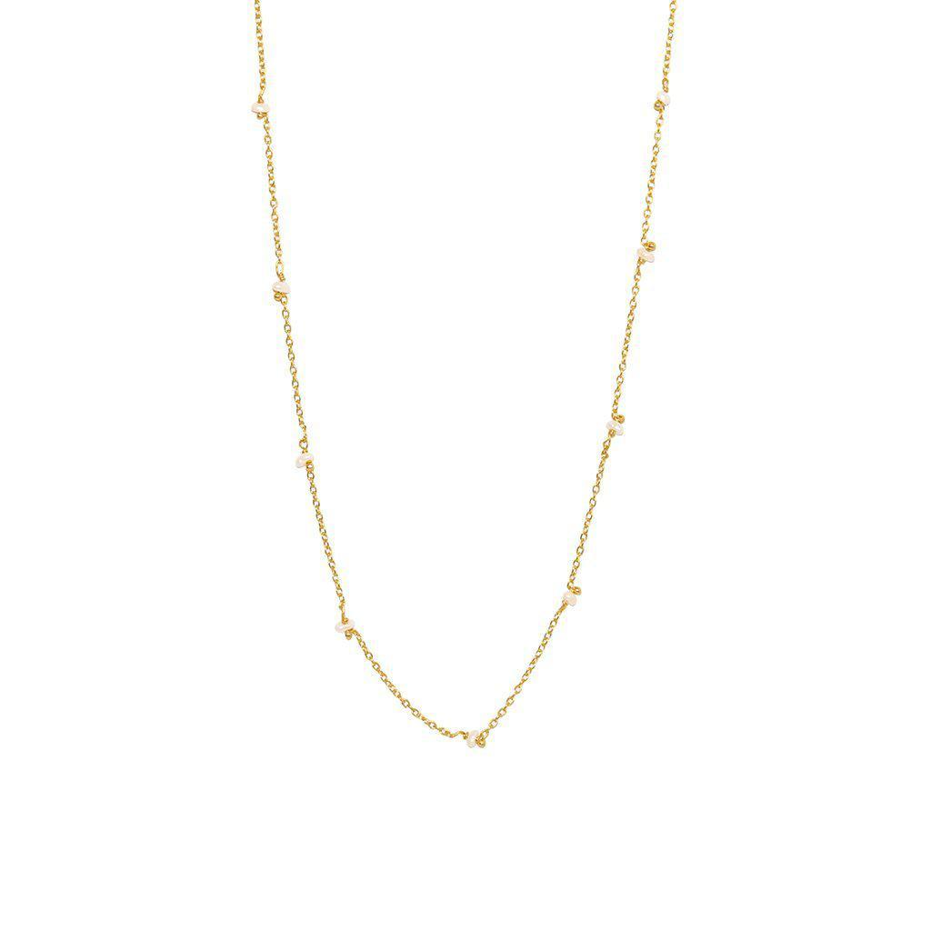 VELIA FRESHWATER PEARL GOLD NECKLACE