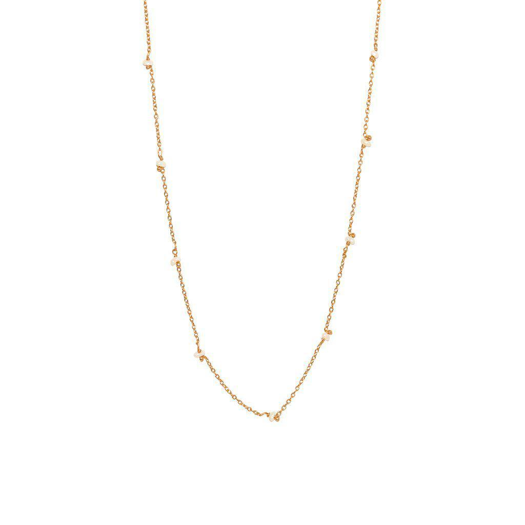 VELIA FRESHWATER PEARL ROSE GOLD NECKLACE