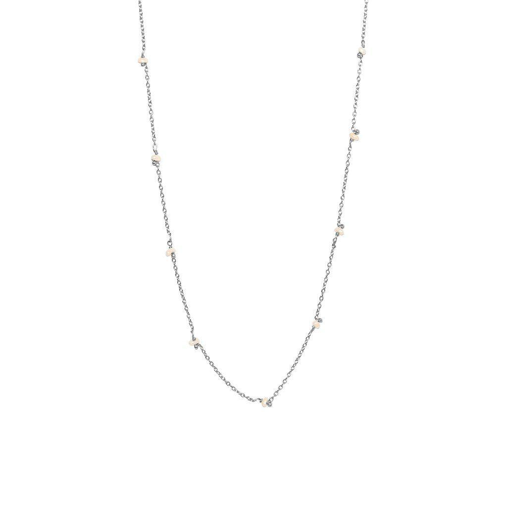 VELIA FRESHWATER PEARL SILVER NECKLACE