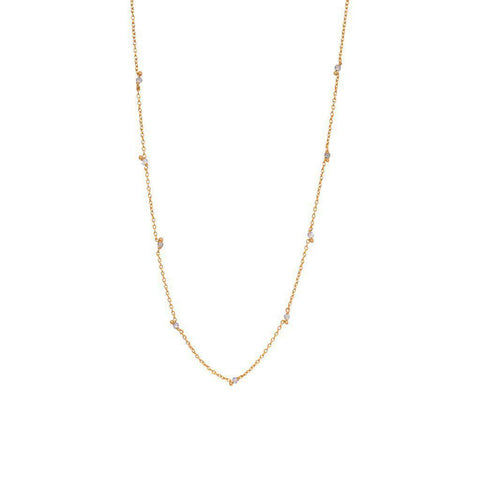 VELIA LABRADORITE SEMI-PRECIOUS ROSE GOLD NECKLACE