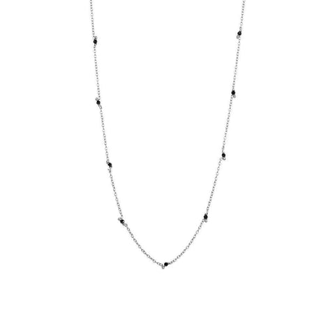 VELIA ONYX SEMI-PRECIOUS SILVER NECKLACE