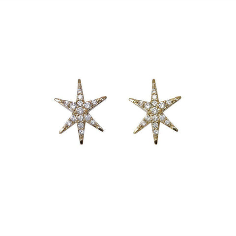 VENT GOLD CRYSTAL STARS STUDS