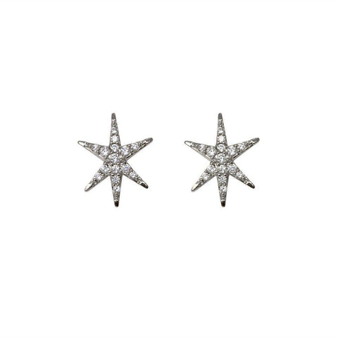 VENT SILVER CRYSTAL STARS STUDS