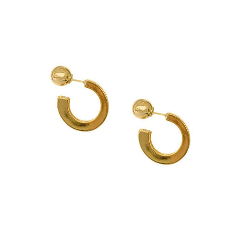 VIANE HOOP GOLD EARRINGS