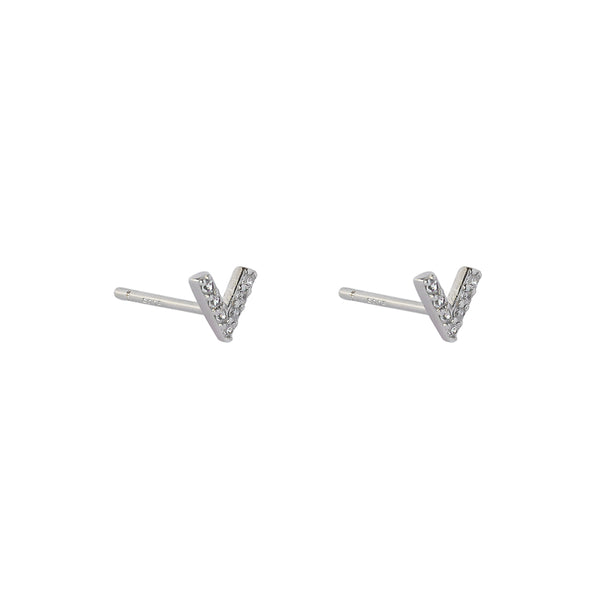 VICTORY CRYSTAL STERLING SILVER STUDS