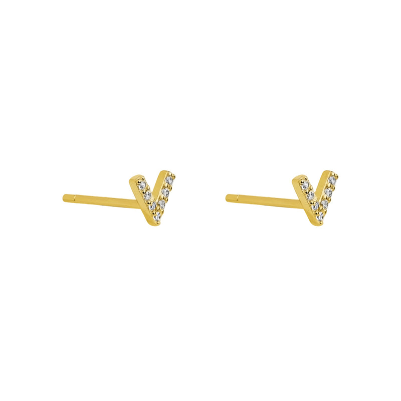 VICTORY CRYSTAL GOLD FILLED STUDS