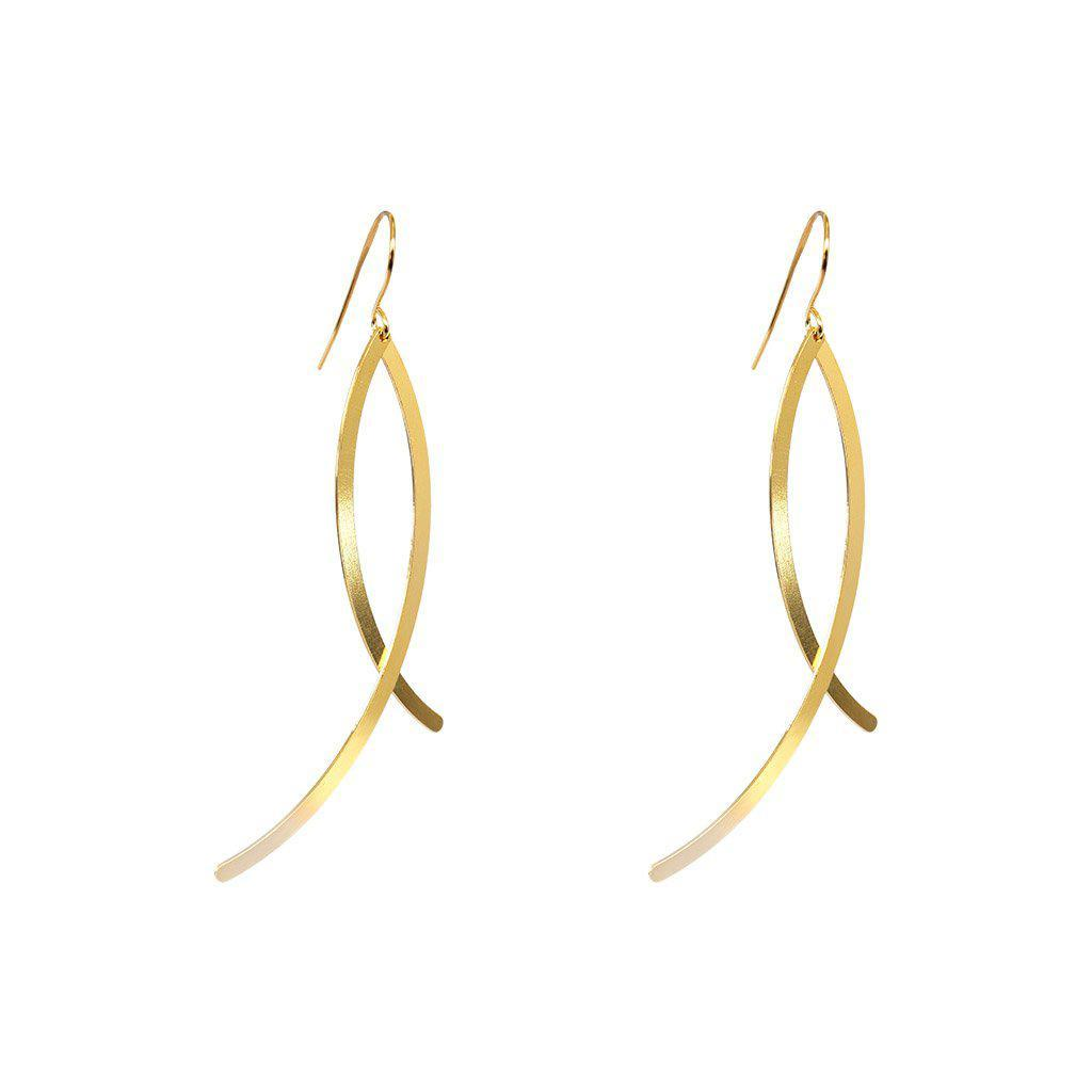 VOLATILE 2MICRON GOLD PLATED EARRINGS