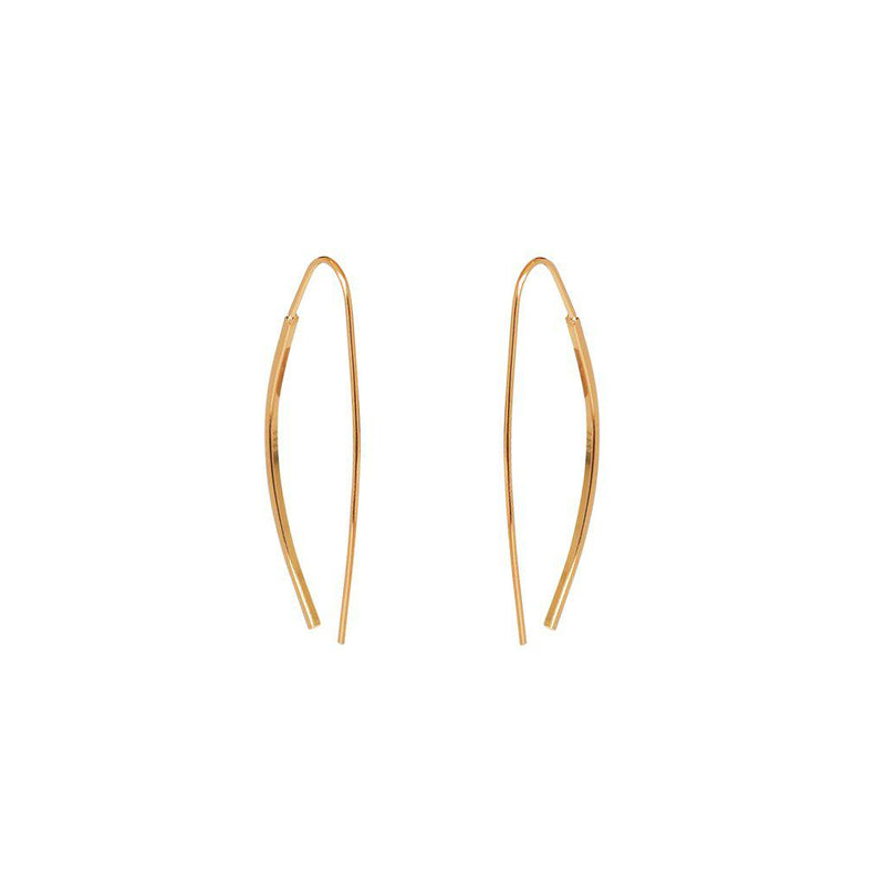 YAKOV 2 MICRON GOLD CROSS OVER EARRINGS