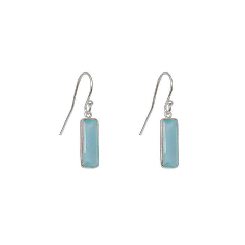 YARELI CHALCEDONY SEMI-PRECIOUS STERLING SILVER EARRINGS