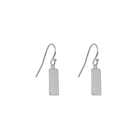 YARELI MOON STONE SEMI-PRECIOUS STERLING SILVER EARRINGS