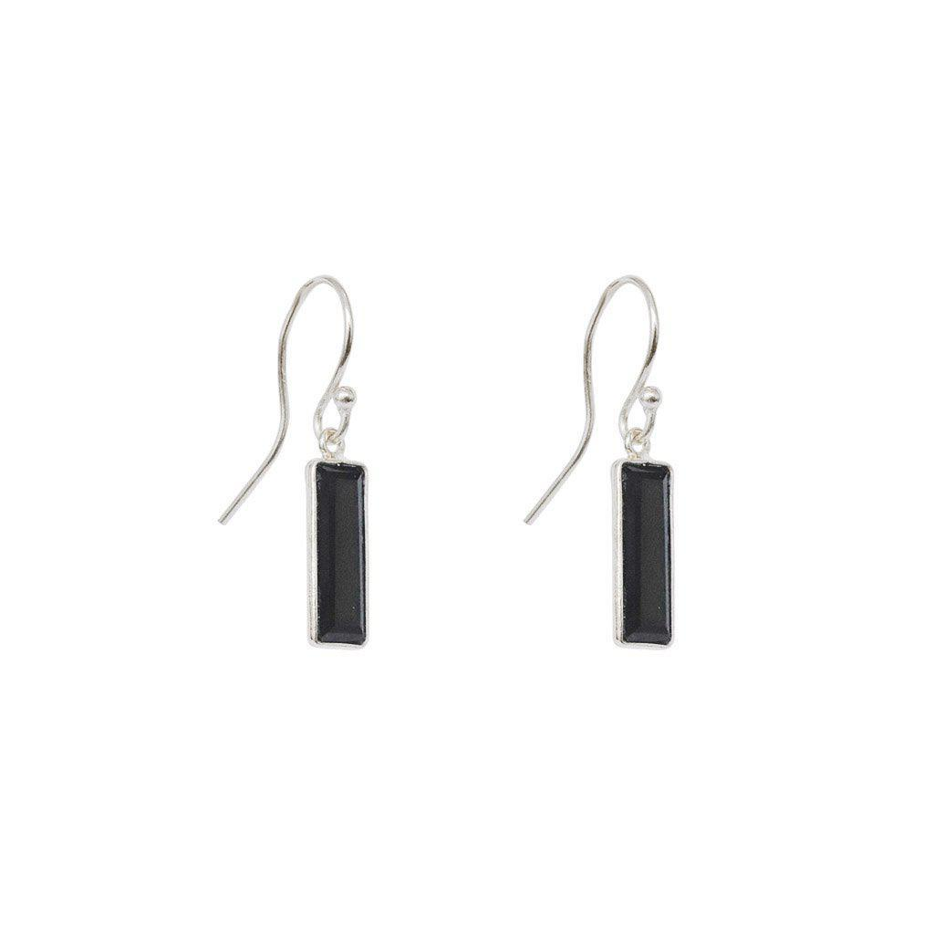 YARELI ONYX SEMI-PRECIOUS STERLING SILVER EARRINGS