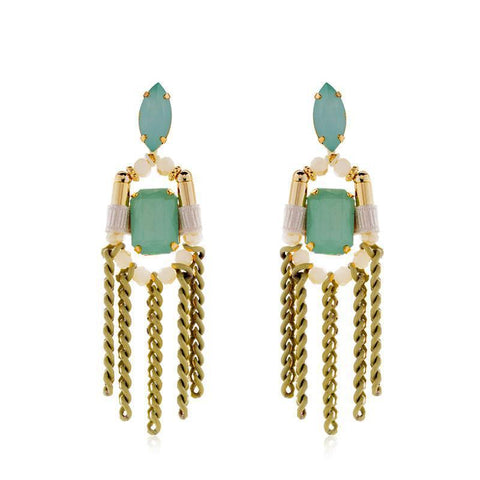 ZAHA AQUA EARRING-Earrings-MEZI