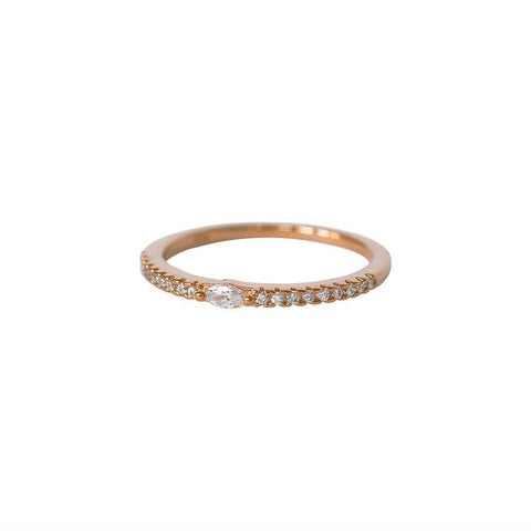 ZANA CRYSTAL ROSE GOLD RING