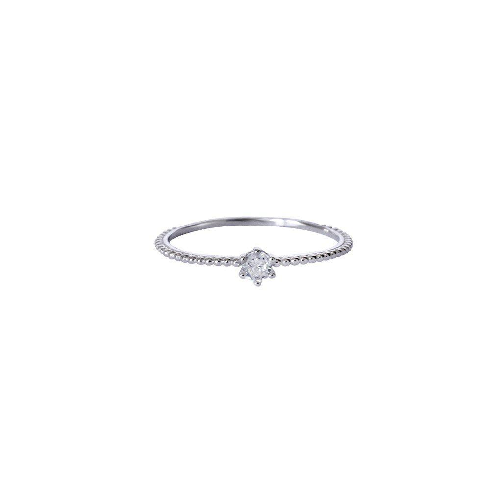 ZETTA SILVER CRYSTAL RING