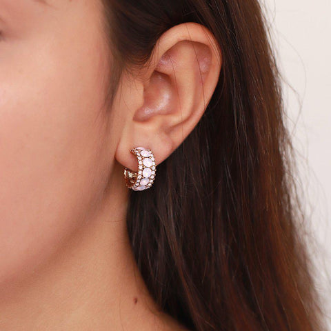 ZIVON PINK CRYSTAL EARRINGS