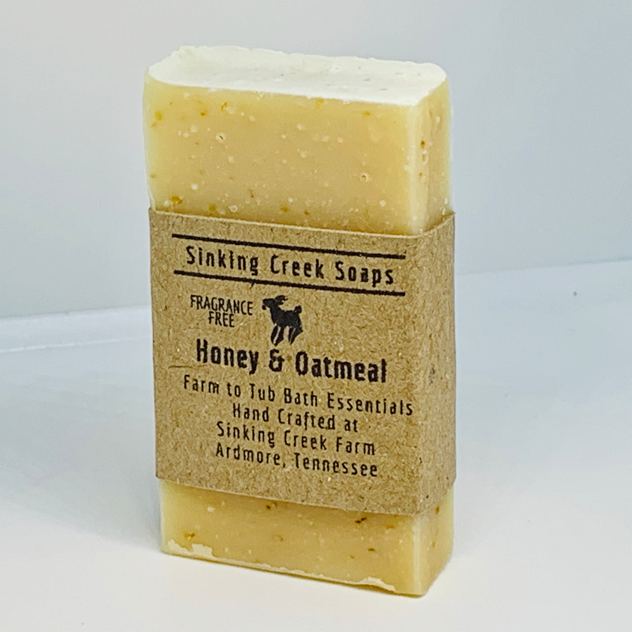 Honey and Oatmeal Goat Milk Soap (Fragrance Free)