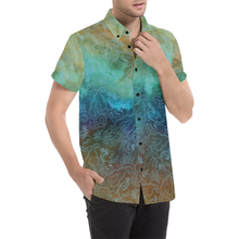 The Buddha Blues Short Sleeve Button Up